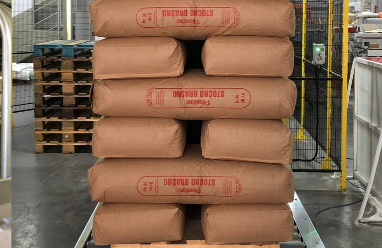 Sacks on a pallet